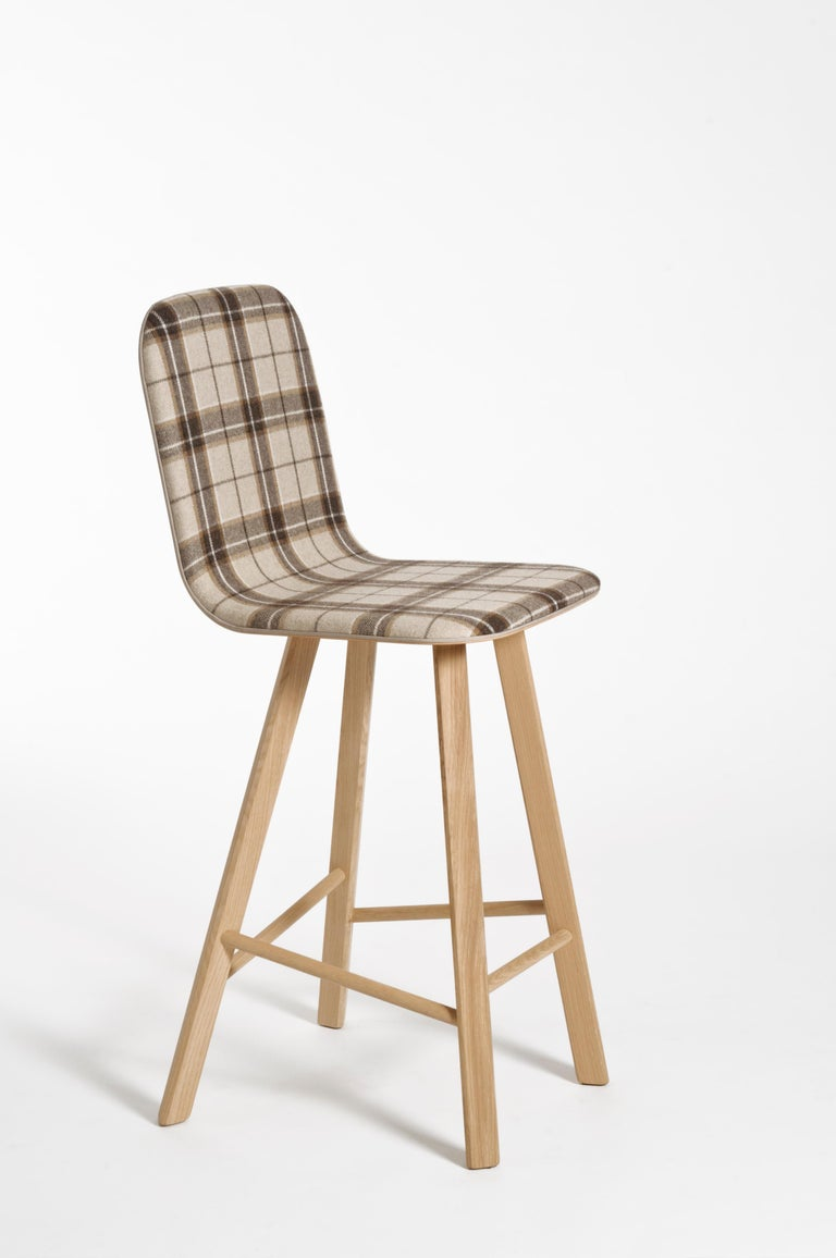Contemporary Tria Minimalist Stool HB Fabric by Colé For Sale