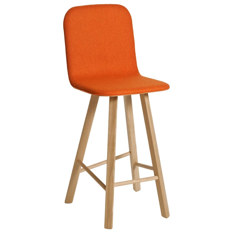 Tria Minimalist Stool HB Fabric by Colé For Sale