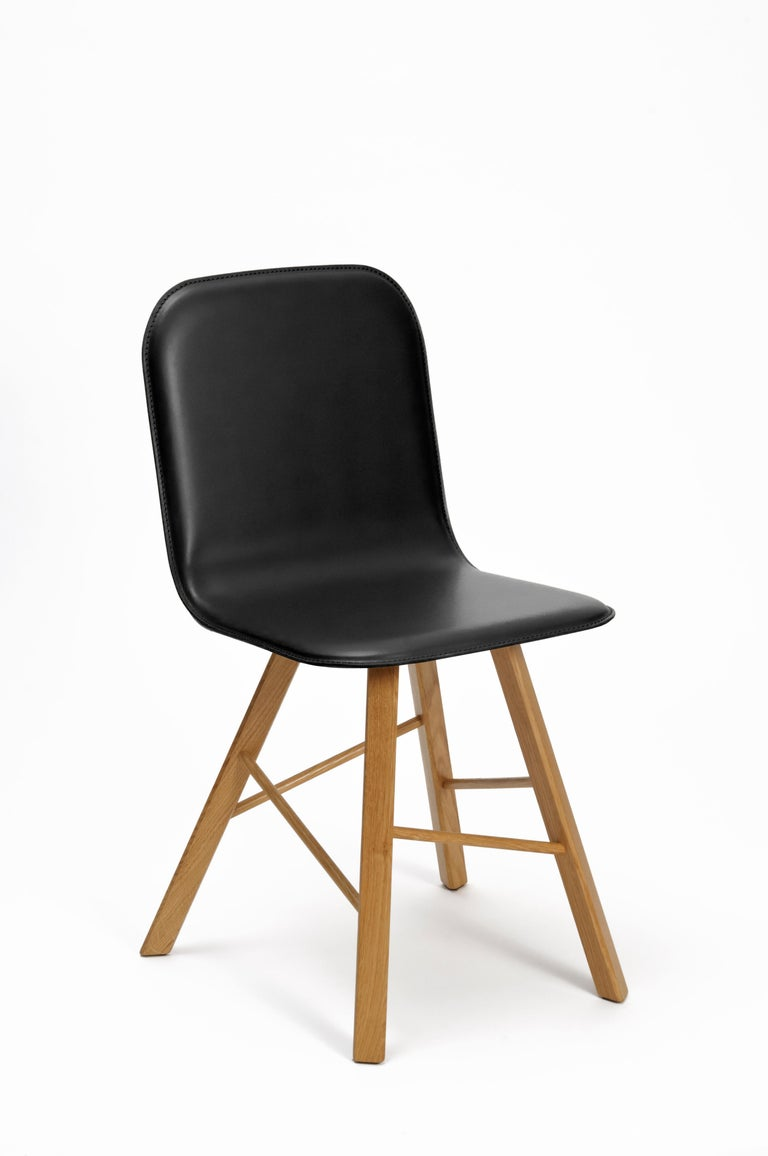 Tria Simple Chair, Black Oak, Minimalist Design Icon Inspired to Graphic Art For Sale 11
