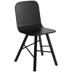 Tria Simple Chair, Black Oak, Minimalist Design Icon Inspired to Graphic Art