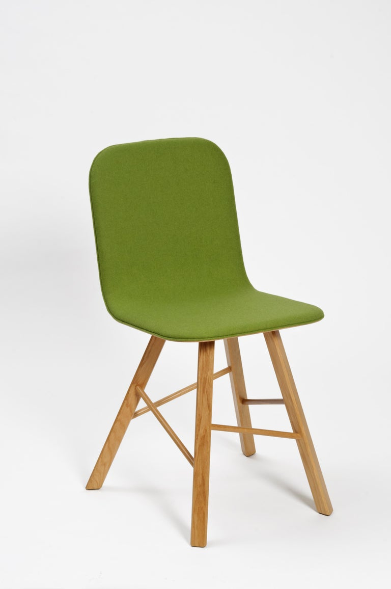 Tria Simple Chair Oak by Colé, Minimalist Design Icon Inspired to Graphic Art For Sale 9