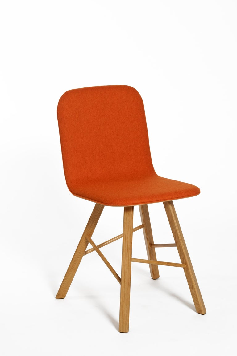 Tria Simple Chair Oak by Colé, Minimalist Design Icon Inspired to Graphic Art For Sale 10