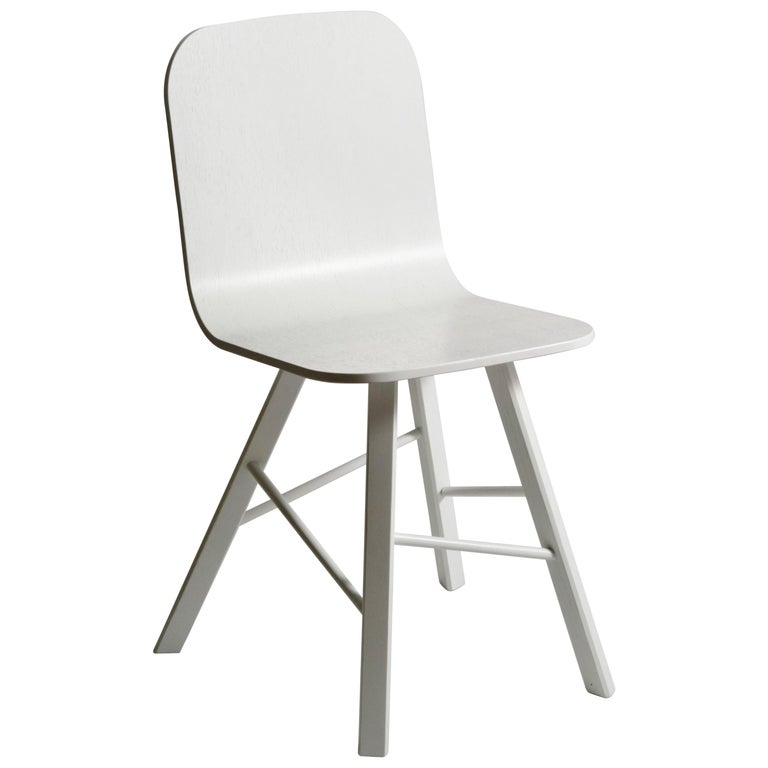 Tria Simple Chair, White Oak, Minimalist Design Icon Inspired to Graphic Art For Sale