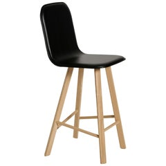 Tria Stool HB Leather by Colé, Minimalist Design Icon Inspired to Graphic Art