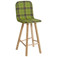 Tria Stool HB Tartan by Colé, Minimalist Design Icon Inspired to Graphic Art