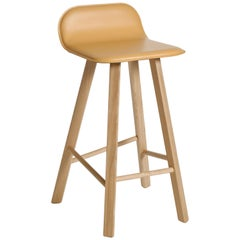 Tria Stool Leather by Colé, Minimalist Design Icon Inspired to Graphic Art