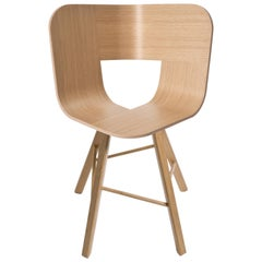 Tria Wood Four Chair, Natural Oak, Design Icon Inspired to Graphic Art