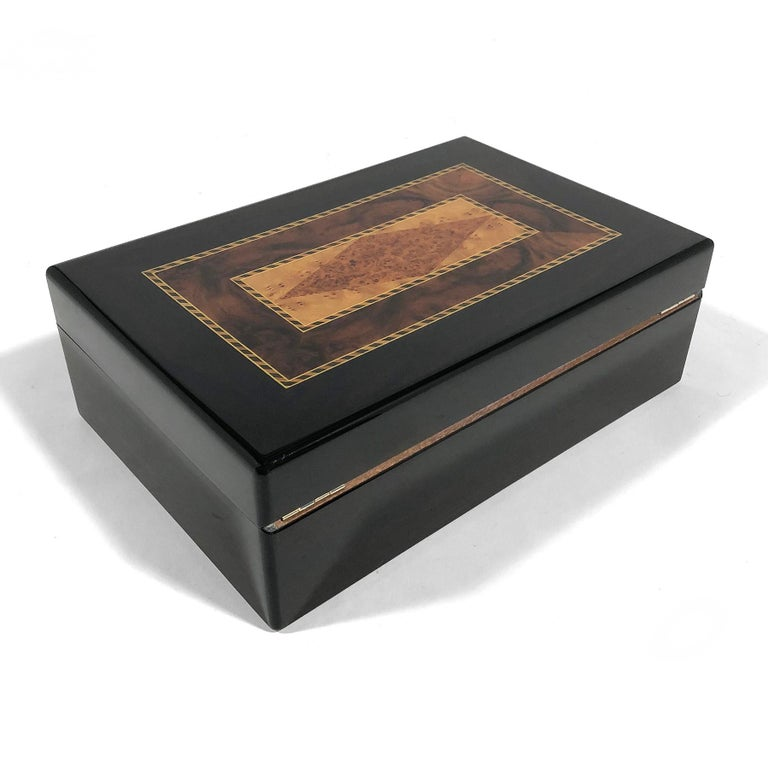 Triade Cigar Humidor with Marquetry Top For Sale 3