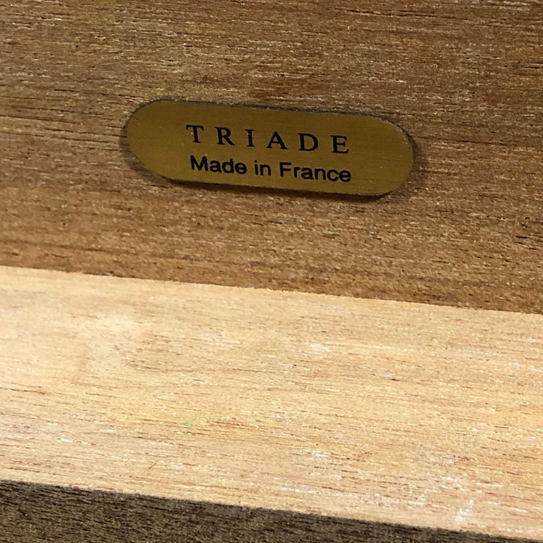 Triade Cigar Humidor with Marquetry Top In Good Condition For Sale In Highland, IN