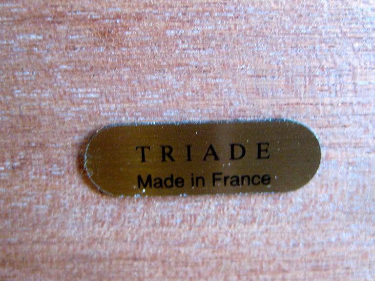 Triade French Burl Wood Inlay Lacquered Mahogany Cigar Humidor Tobacco Box For Sale 11