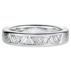 Triangle and Parallelogram Baguette Diamond Band in Platinum