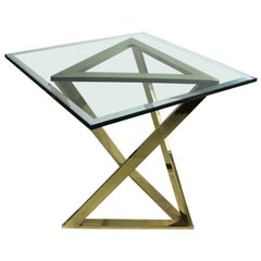 Triangle Base Table Attributed to Milo Baughman