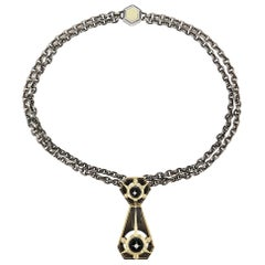 Triangle Necklace Onyx