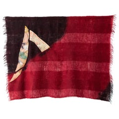'Triangle Series #18,' Quilt Painting Wool Tapestry Textile Art, in Stock