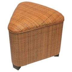 Triangle Wicker Bench or Stool