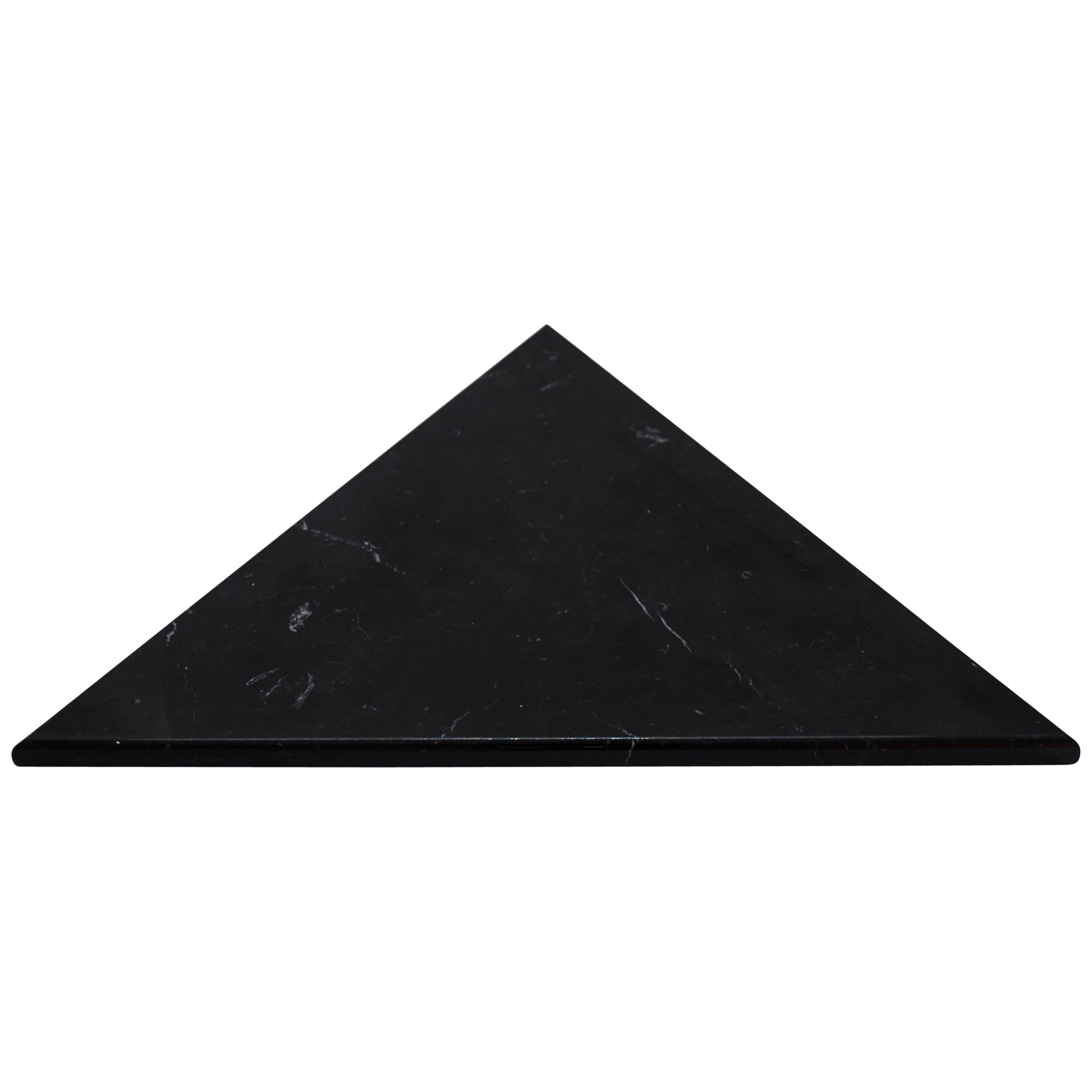 Triangular Black Marble Cutting Board and Serving Tray