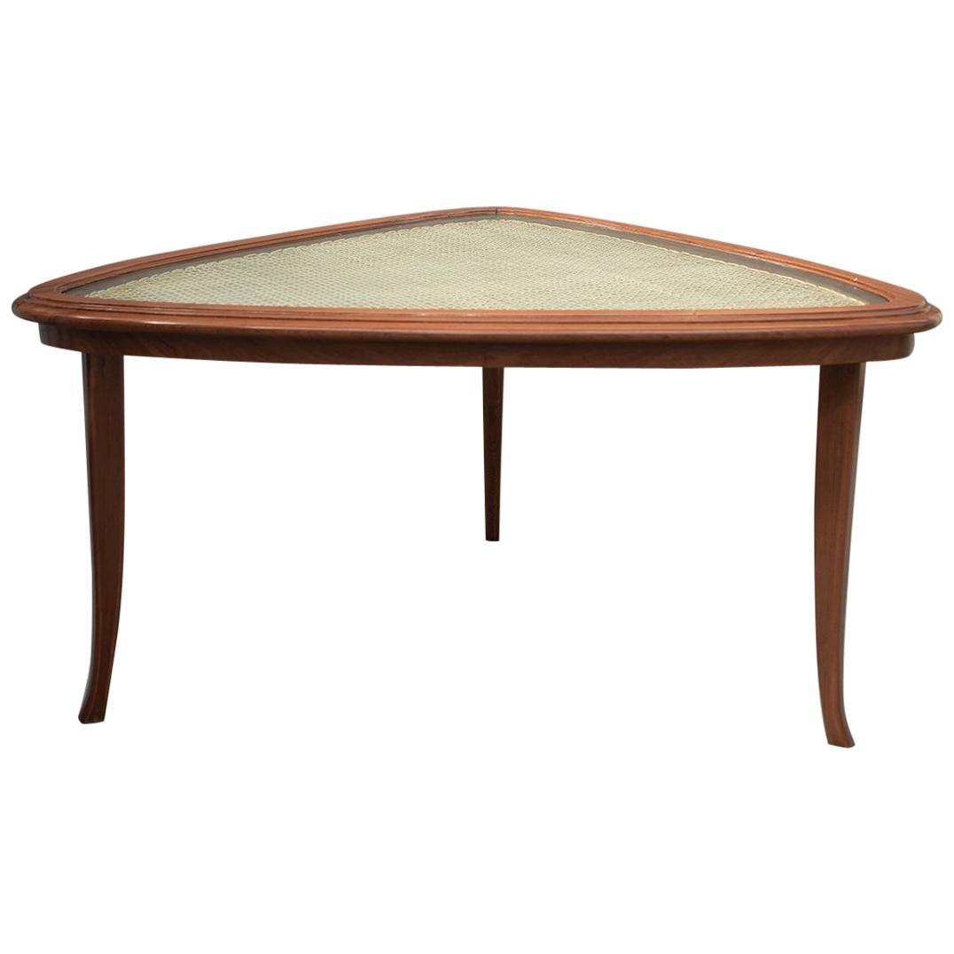 Triangular Coffee Table by Carlo Hauner and Martin Eisler, Brazilian Midcentury