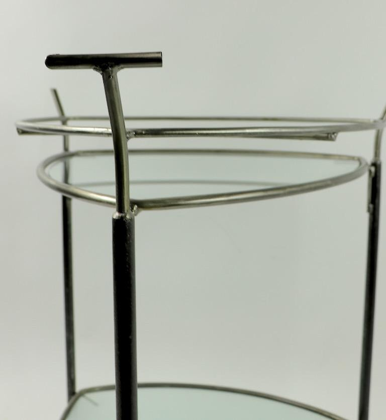 Glass Triangular Guitar Pick Form Serving Bar Cart For Sale