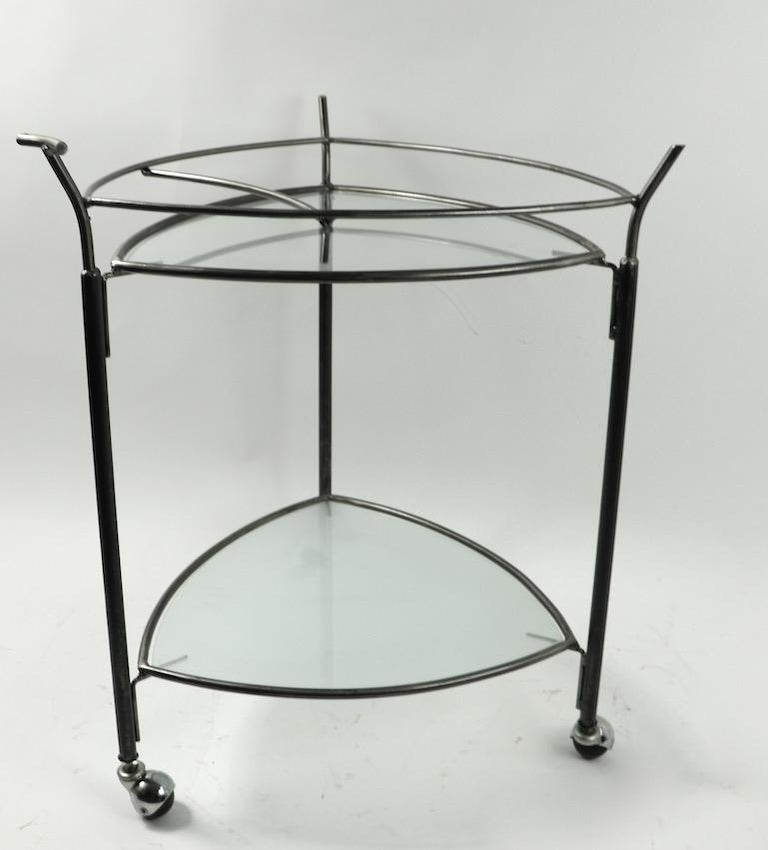Triangular Guitar Pick Form Serving Bar Cart For Sale 2