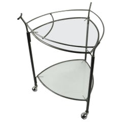 Triangular Guitar Pick Form Serving Bar Cart