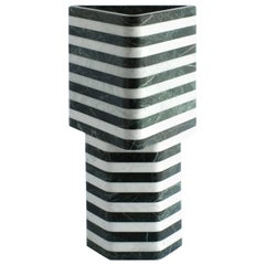 Triangular-Hexagonal Stacked Stone Vessel in Marble by Fort Standard