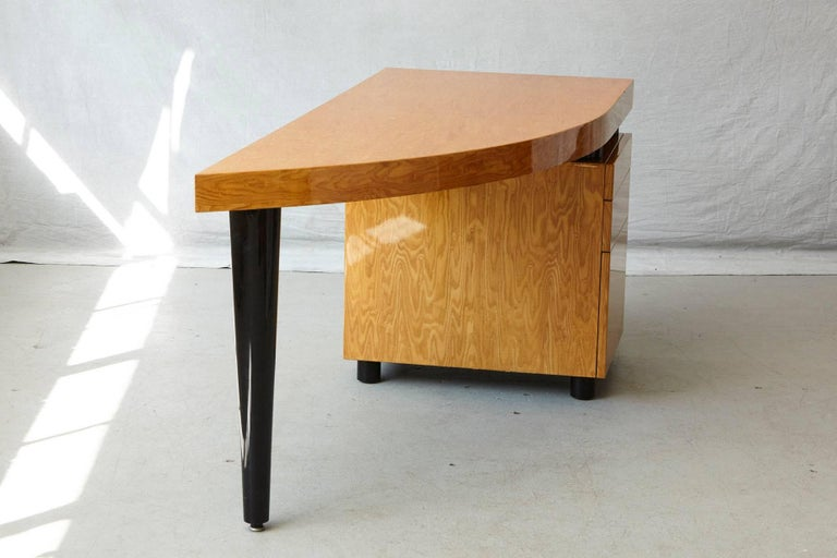 Triangular Memphis Style Inspired Lacquered 'Boca Desk' by Leon Rosen for Pace For Sale 5