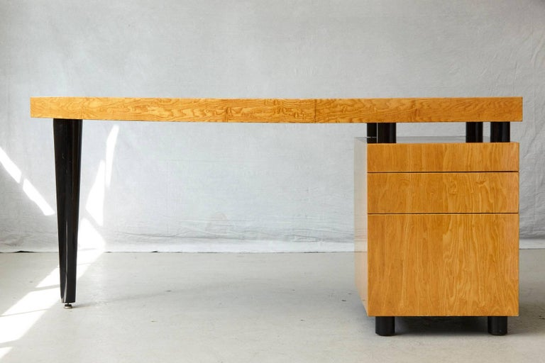 Post-Modern Triangular Memphis Style Inspired Lacquered 'Boca Desk' by Leon Rosen for Pace For Sale