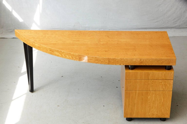 American Triangular Memphis Style Inspired Lacquered 'Boca Desk' by Leon Rosen for Pace For Sale