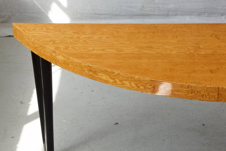Triangular Memphis Style Inspired Lacquered 'Boca Desk' by Leon Rosen for Pace In Good Condition For Sale In Weston, CT