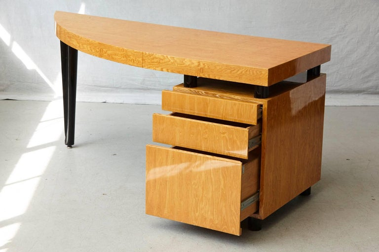 Triangular Memphis Style Inspired Lacquered 'Boca Desk' by Leon Rosen for Pace For Sale 2