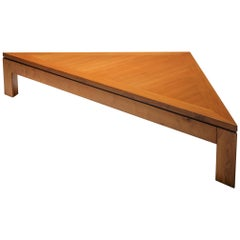 Triangular Postmodern Coffee Table in French Elm
