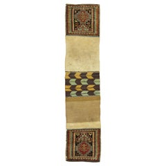 Tribal 19th Century kazak Bagface Trapping Textile Rug