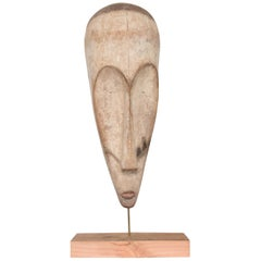 Tribal Africa Ngil Society Mask by Fang People of Gabon Guinea, 1960s