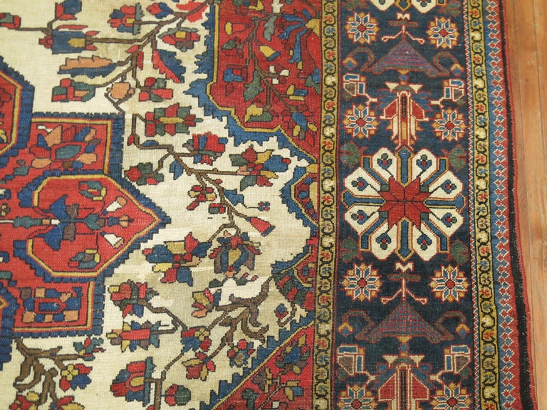 Tribal Antique Bakhtiari Rug For Sale 5