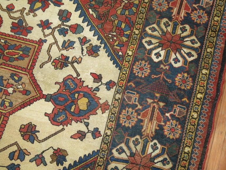 Heriz Serapi Tribal Antique Bakhtiari Rug For Sale