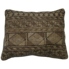 Tribal Antique Ersari Lumbar Rug Pillow