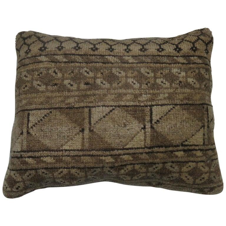 Tribal Antique Ersari Lumbar Rug Pillow For Sale