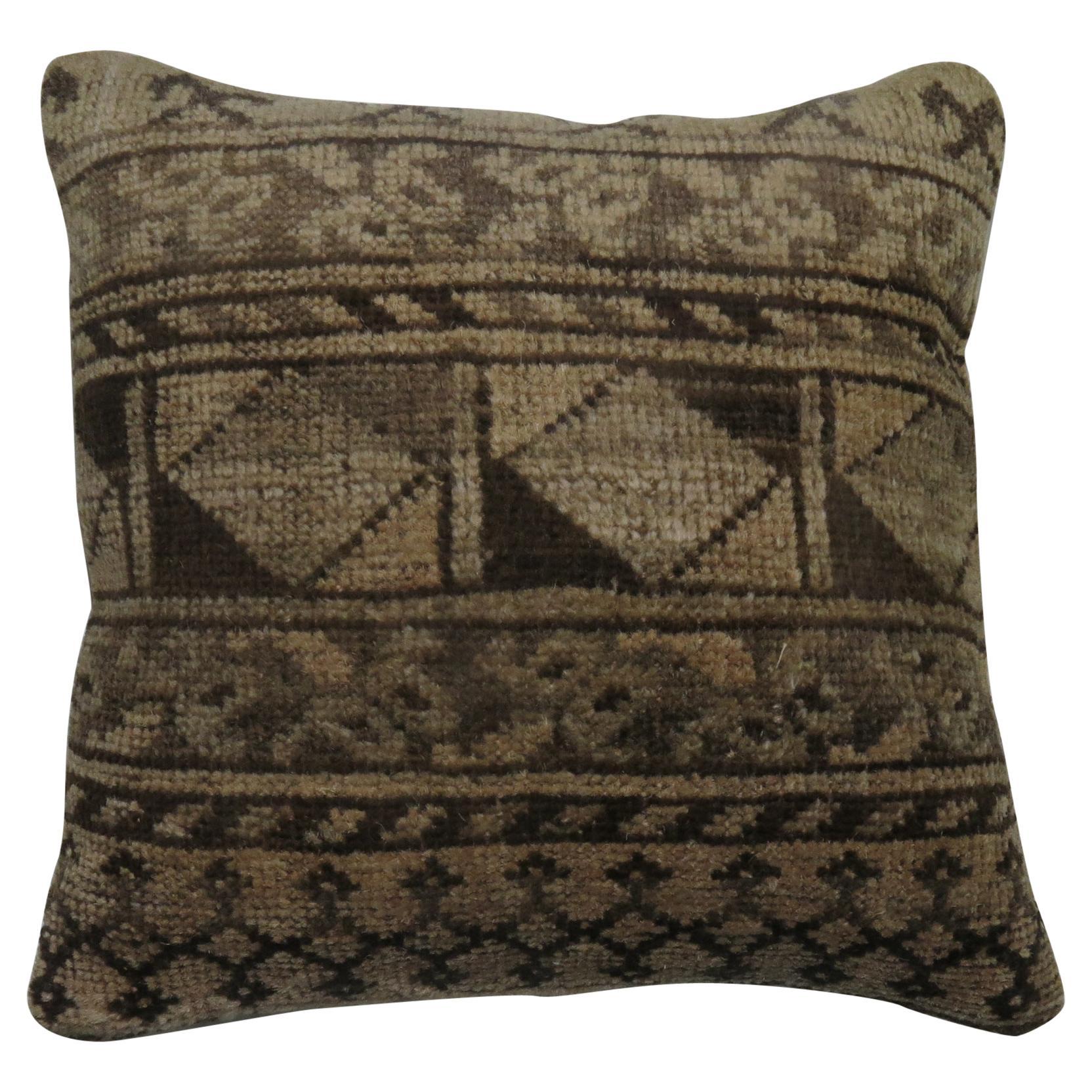 Tribal Antique Ersari Rug Pillow