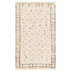 "Tribal Antique Flat Woven Caucasian Shahsavan Kilim Rug. Size: 3' 3"" x 5' 8"""