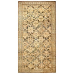 Tribal Antique Oversized Persian Bakhtirari Geometric Rug. Size: 15 ft x 30 ft