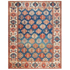 Tribal Antique Persian Bakshaish Rug. Size: 11 ft x 13 ft 9 in (3.35 m x 4.19 m)