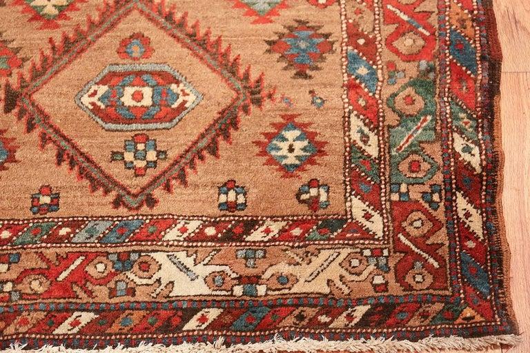 Tribal Antique Persian Bakshaish Runner Rug. Size: 3 ft 6 in x 10 ft 10 in For Sale 5