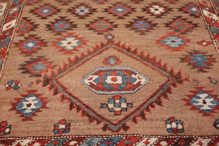 Tribal Antique Persian Bakshaish Runner Rug. Size: 3 ft 6 in x 10 ft 10 in For Sale 6
