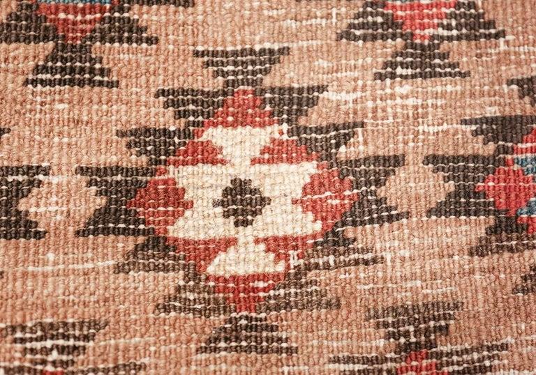 20th Century Tribal Antique Persian Bakshaish Runner Rug. Size: 3 ft 6 in x 10 ft 10 in For Sale