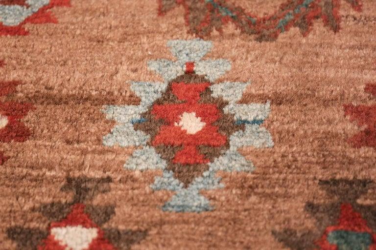 Wool Tribal Antique Persian Bakshaish Runner Rug. Size: 3 ft 6 in x 10 ft 10 in For Sale