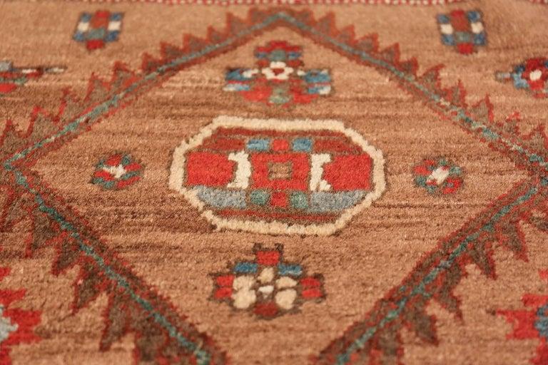 Tribal Antique Persian Bakshaish Runner Rug. Size: 3 ft 6 in x 10 ft 10 in For Sale 1