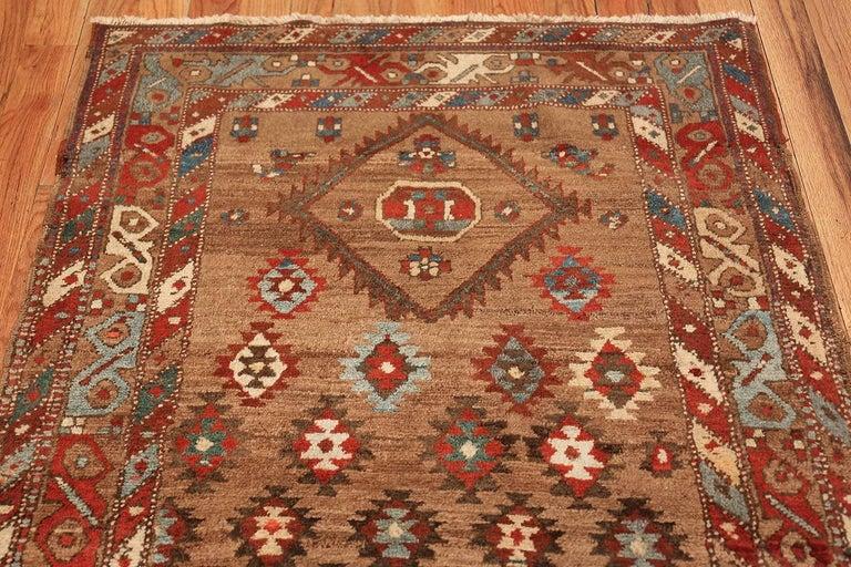Tribal Antique Persian Bakshaish Runner Rug. Size: 3 ft 6 in x 10 ft 10 in For Sale 2