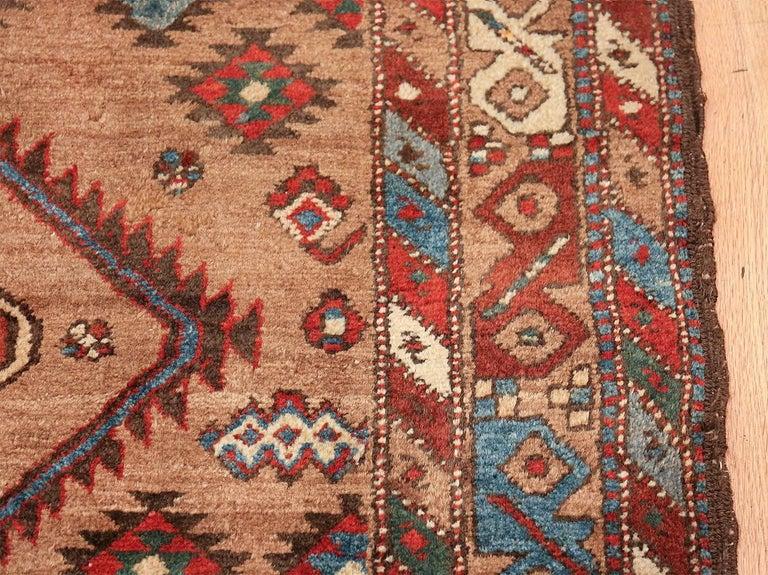Tribal Antique Persian Bakshaish Runner Rug. Size: 3 ft 6 in x 10 ft 10 in For Sale 3