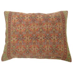 Tribal Antique Persian Floor Rug Pillow