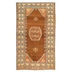 Tribal Antique Persian Malayer Rug. Size: 4 ft 2 in x 7 ft 5 in